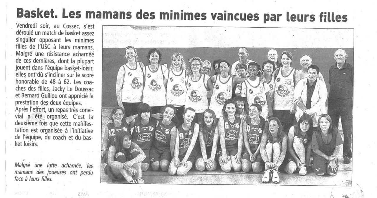mai 2007 - Match minimes féminines contre les séniors loisirs