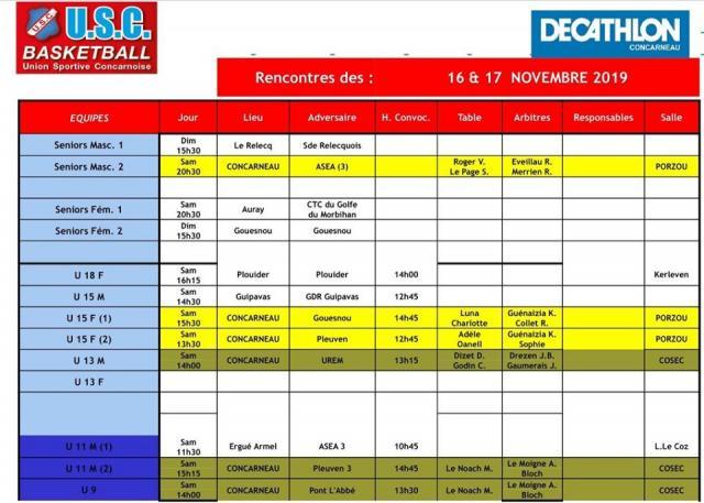 Planning week 16 17